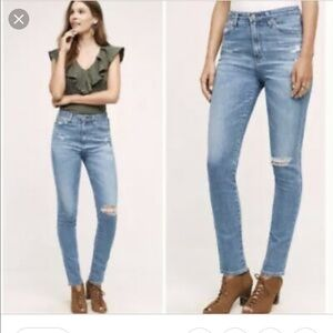 Ag Adriano Goldschmied Jeans - AG the Sophia High waisted Distressed Jeans